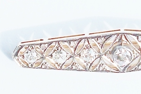 Broches en Hangers - Art Deco broche diamant