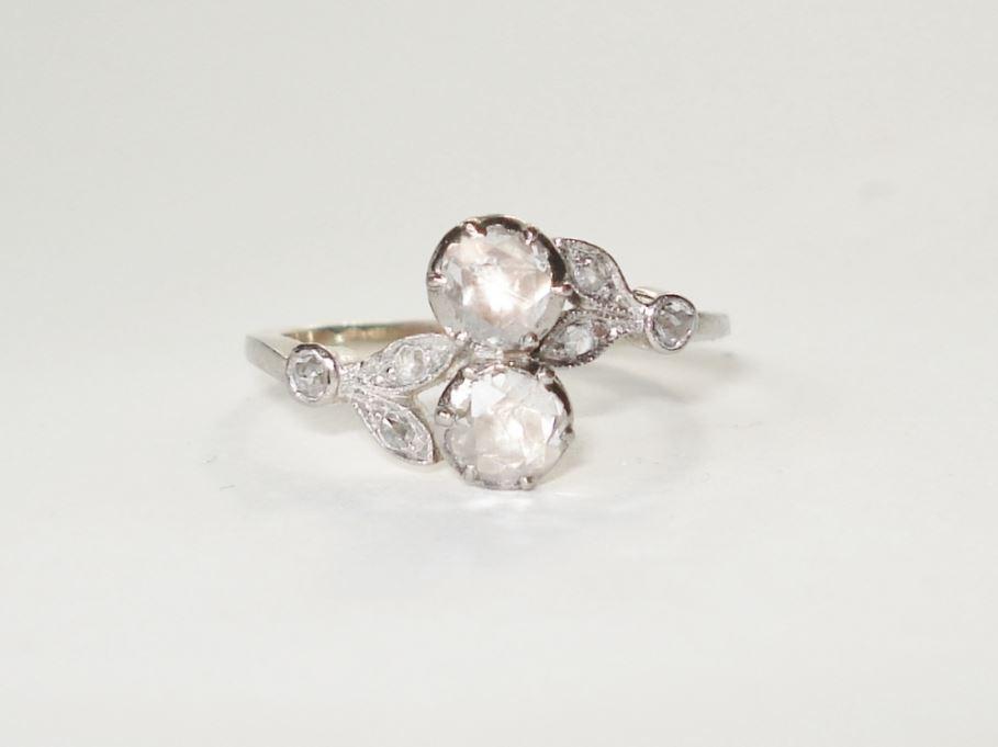 Anita Pottera juwelier antiquair,Antieke ring met roosdiamanten