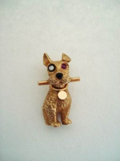 Broches en Hangers - cartier%20broche%20hond%202