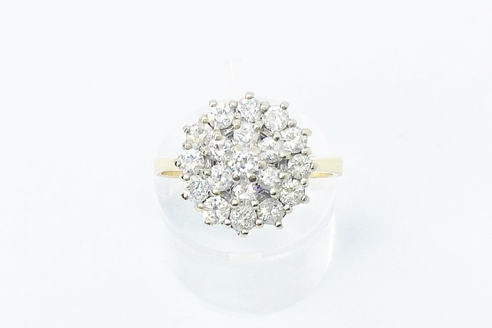 Antieke ringen - entourage%20ring%20diamant%201.00%20ct%20vintage