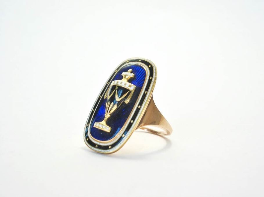 Antieke ringen - georgian%20ring%20blue%20enamel
