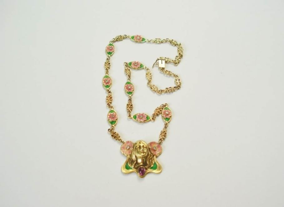 ketting goud emaille ca. 1910