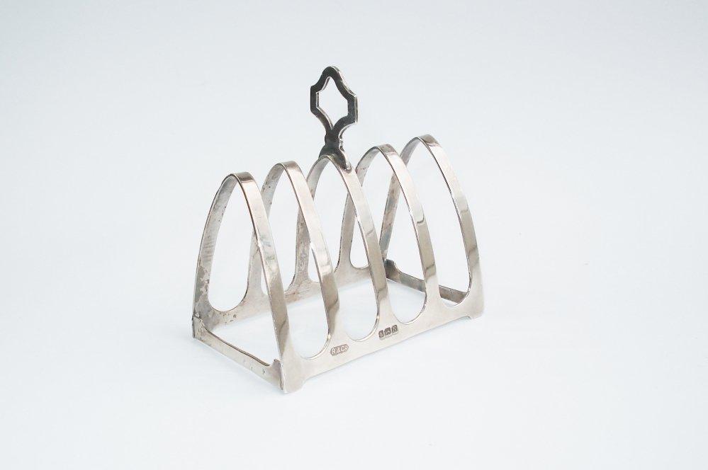 Engels Antiek Zilver.Zilveren Toastrek Engels