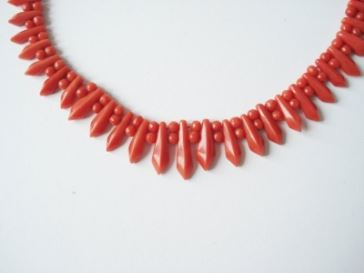 blodkoralen collier art deco