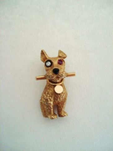 cartier broche hond 2
